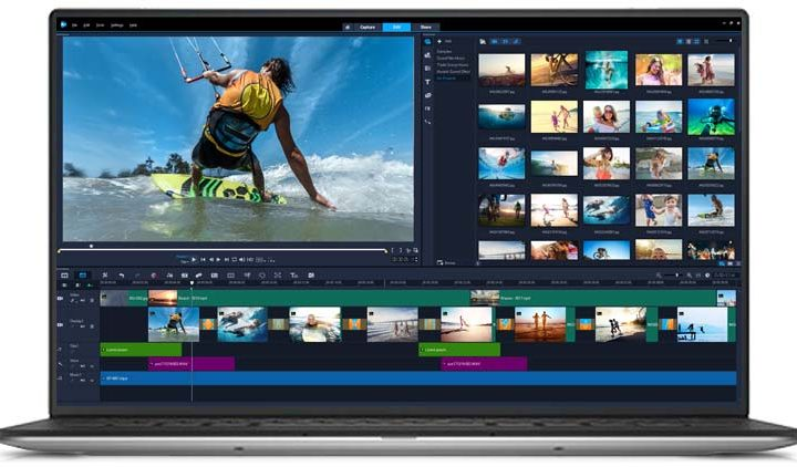 The interface of Corel Video Studio Ultimate