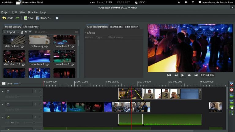 The interface of Shotcut video editor