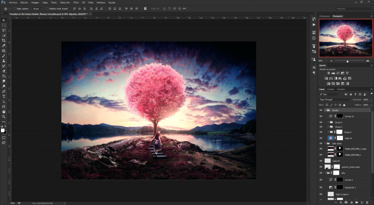 The interface of Adobe Photoshop