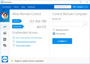 teamviewer interface remote control panel screenshot