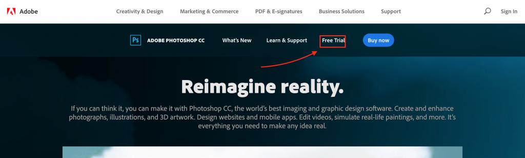 Adobe Photoshop CC trial version