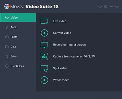 movavi video suite interface