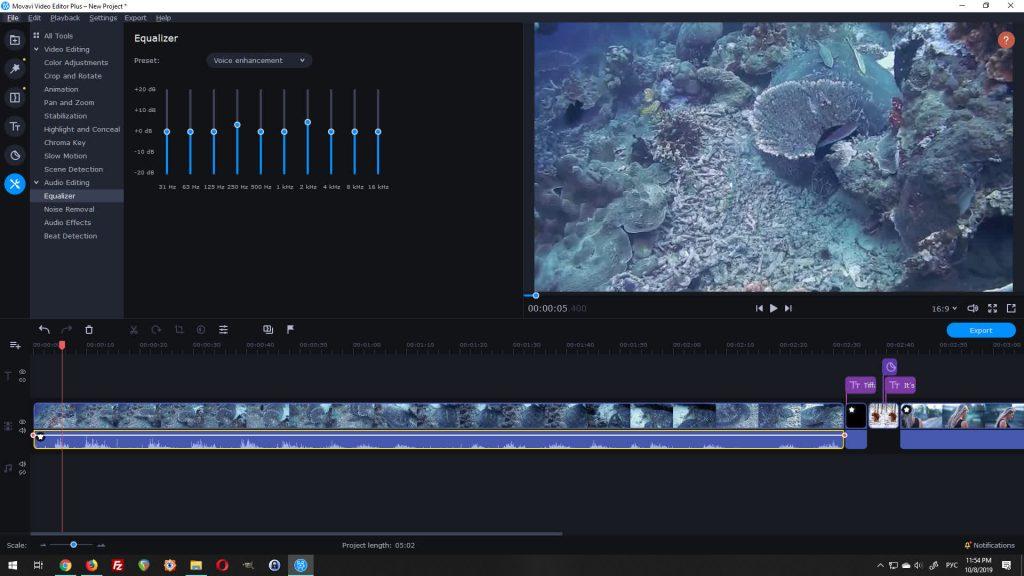 movavi video editor plus equalizer