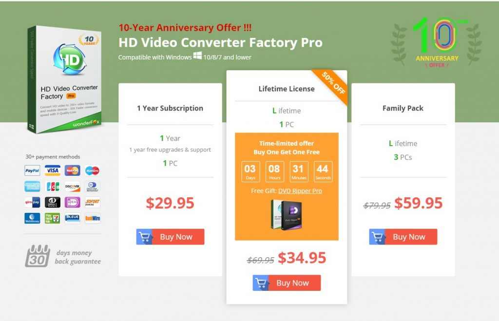 hd video conver factory pro pricing