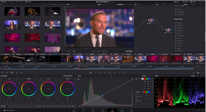 DaVinci Resolve - Adobe Premiere free alternative for professionals